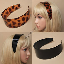 NEW 5cm WIDE PLASTIC HEADBAND ALICEBAND HEAD ALICE BAND HAIR BLACK OR TORT BROWN