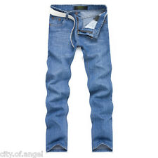 NEW Mens Designed Straight Leg Slim Fit Washed Jeans Trousers Casual Denim Pants