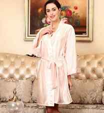 new !fashion Long sleeves silk nightgown bathrobe plus-size pajamas