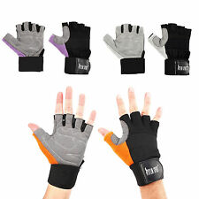 WEIGHT LIFTING GLOVES FITNESS TRAINING BODY BUILDING GYM GRIP WITH STRAPS 3 SIZE