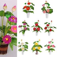 Artificial Fake Lotus Silk Flowers Leaf Bouquet Wedding Party Home Chic Decor