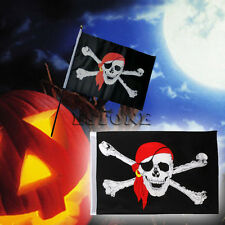 Hot 1Pc Large Skull Crossbones Pirate Flag Jolly Roger Hanging With Grommet