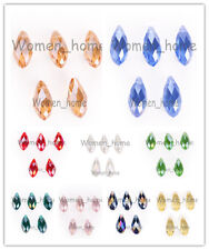 Bulk 8x16mm Charms Faceted Teardrop Pendant Earring Findings Loose Spacer Beads