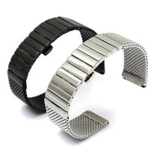 18 20 24 mm Stainless Steel Mesh Watch Band Shark Diving Replacement Strap