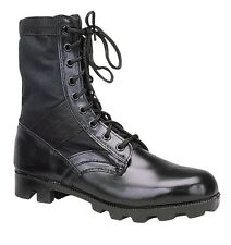 Jungle Boots GI Style - 8 Inches High Sizes 1-15 - Panama Sole - Black