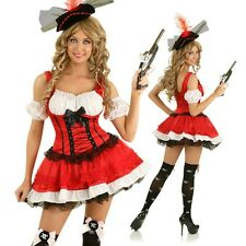 Adult Swashbuckler Pirate Woman Costume Halloween Fancy Dress Party Outfit & Hat