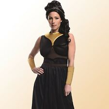 Womens Queen Gorgo Costume 300 Movie Greek Spartan Warrior Dress Up Party Outfit
