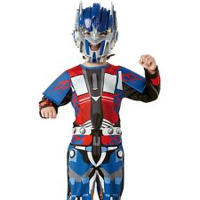 Boys Optimus Prime Transformers Robot Warrior Child Party Outfit & Mask Costume