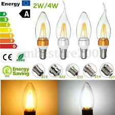 E27 E14 E12 B22 B15 2W/4W Edison Filament COB LED Flame Candle Light Bulb Lamp