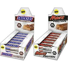 Mars & Snicker Protein Bars High Protein Ready To Eat 18 Bars Per BOX x 2 - Mix