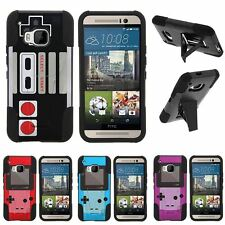 For HTC One M9| Hybrid Hard Bumper Stand Case Gaming