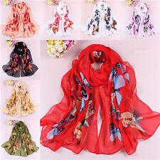 2014 Butterfly Girls Women Long Soft Wrap Lady Shawl Silk Chiffon Scarf W061