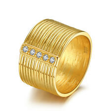 JewelryPalace Band Ring CZ 925 Sterling Silver 18k Gold Plated For Ladies