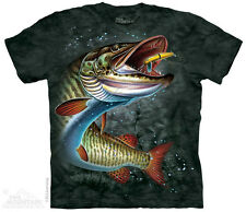 Muskie Fish The Mountain Adult Size T-Shirt