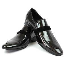 NEW Mens Black Loafers Formal Tuxedo Shoes Suit Slip On All Size FREE SHIPPING