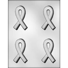 CK Crossed Ribbon Clear Chocolate Sheet Mold Breast Cancer Awareness
