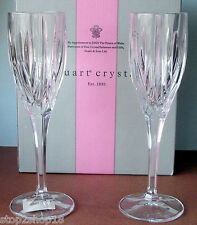 Stuart Crystal Ashbury Champagne Flute Pair (2) Crystal New In Box