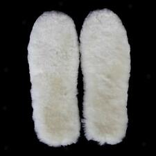 Footful Thick Fluffy Natural Wool Shoes Boots Insoles Cushions Pads All Size