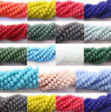 100Pcs Rondelle Faceted Crystal Glass Loose Spacer Beads DIY Findings 4/6/8/10mm