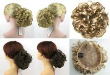 CURLY HAIR CHIGNON BUN UPDO WEDDING HAIRPIECE W/ DRAWSTRING PAGEANT TOPPER COVER