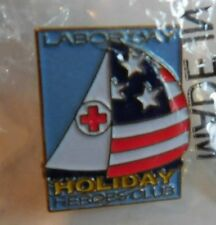 American Red Cross Labor Day Holiday Heroes Club Boat Sail Pin Pinback