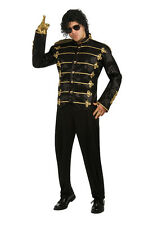 Michael Jackson Deluxe Black Military Jacket Adult Halloween Costume
