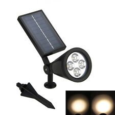 Outdoor Lights Sensor 4-LED Solar Spot Light Lawn Landscape Path Way Garden Lamp