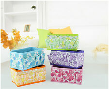 5 Pcs Non-woven Fabric Folding Storage Bag Box Make Up Cosmetic Jewelry Cases