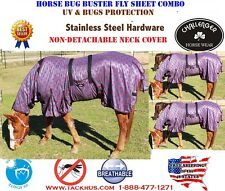 Horse Bug Mosquito Fly Sheet Summer Spring Airflow Mesh UV Neck 73133