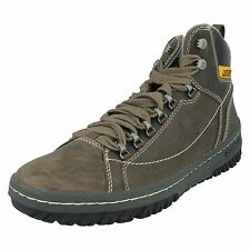 Mens Caterpillar Leather Lace Up Boots Style - APA HI