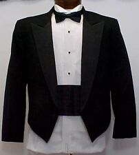 MENS FORMAL  BLACK WAITERS OR BARTENDERS SHORT  TUX TUXEDO JACKET