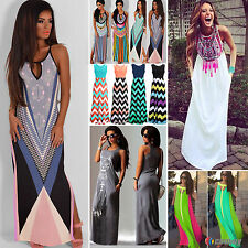 Womens Boho Summer Long Maxi Beach Dresses Party Evening Cocktail Wedding Dress