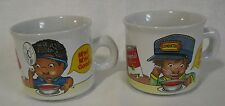 1993 Ceramic CAMPBELL SOUP MUGS African American Kids TRAIN CONDUCTOR DOCTOR
