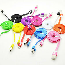 3x 3Ft 1m Noodle Sync Data Micro USB Charger Cable Cord for Samsung S2 S3 S4 HTC