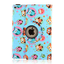 For Apple iPad 2 3 4 mini 360 Rotating Folio Leather Smart Case Cover Skin Stand