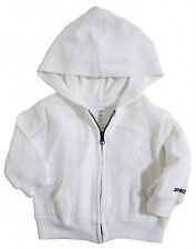 OSHKOSH B'Gosh Boy Girl White Terry Hooded Jacket Infant Baby Toddler MSRP$28.00