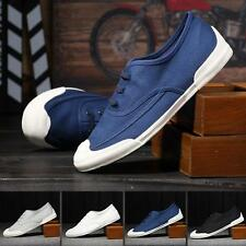 Fashion Mens casual breathable rubber sole canvas loafer sneaker shoes slipper