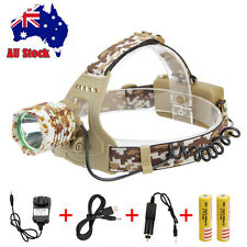 3000lm CREE XML T6 LED Rechargear Headlamp Headlight Head Torch+2x 18650 Charger
