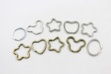 10Pcs Silver Bronze Plated Alloy Key Ring Star Pentagram Key Chain Accessories