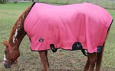 Horse Fly Sheet Summer Spring Airflow Mesh UV Salmon Pink 7332