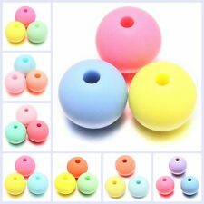 Assorted Lots Colorful Round Shape Polish Acrylic Spacer Beads Loose Findings J