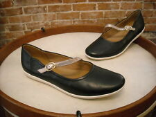 Clarks Black Leather Mary Jane Helina Amo Slip on Shoe New