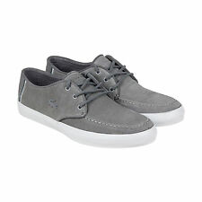 Lacoste Sevrin Mens Grey Suede Lace Up Sneakers Shoes