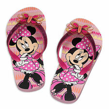 Disney Store Minnie Mouse Clubhouse Pink Flip Flops Girls Size 5/6 7/8 9/10 NWT