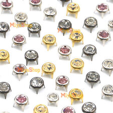 Round A Grade Rhinestone Crystal Studs Spot Spikes Rivets Punk Leather Craft Bag