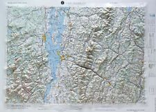 Lake Champlain USGS Regional Raised Relief Map in NH, NY, & VT