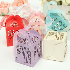 10/50/100pcs Sweet Married Wedding Favor Box Gift Boxes Candy Paper Party EF
