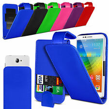 For Panasonic Eluga Note Clip On PU Leather Flip Case Cover Pouch