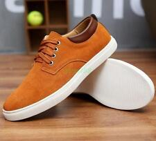 New Men's Suede Shoes Casual skate Board Lace up Shoes All Large Size US7-12.5