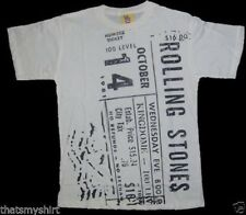 New Authentic Junk Food Rolling Stones Concert TIcket Boys T-Shirt in White